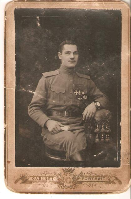 WWI Russian Life Guard Lithuanian Regiment Soldier w. Orders St.Georg & Badges.
