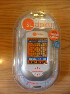 TECHNO-SOURCE-ILLUMINATED-TOUCH-SCREEN-ELECTRONIC-SUDOKU-GAME-NEW-SEALED