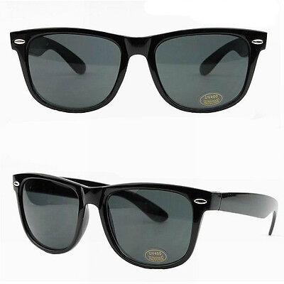 Brand New Retro Black Frame Classic Style UV 400 Sunnies Sunglasses - Aus Seller