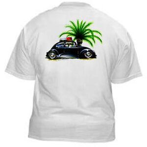 Kurbside-Kustoms-100-Cotton-Hot-Rod-T-Shirt-VeeDub-amp-Palm-Trees-SS-368