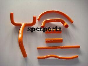 New-Genuine-KTM-LC4-620-625-640-660-SILICONE-radiator-hose-kit-Orange