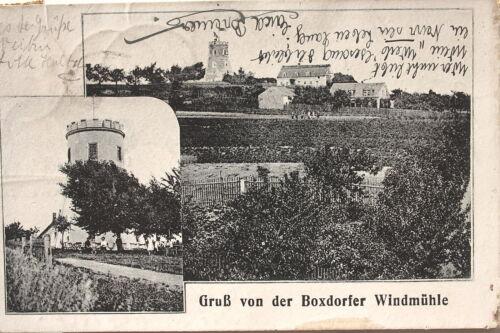 13918 AK Gruß von der Windmühle Boxdorf bei Dresden 1920