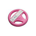 Skque Pink Steering Wheel For Wii Mario Kart Racing Game Remote Controller White
