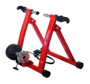 NEW-INDOOR-HOME-BIKE-CYCLING-MAGNETIC-WIND-TRAINER-New-In-Box-RED-CYCLE