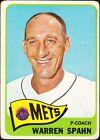 1965 Topps Warren Spahn New York Mets #205 Baseball Card