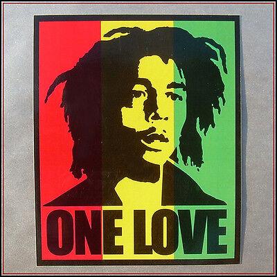Bob Marley Sticker decal vinyl rastafari jamaica reggae africa vw car Rasta