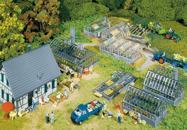 NEW ! HO Faller GARDEN CENTER / NURSERY Building KIT # 130253