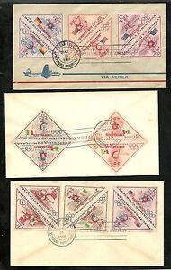 DOMINICAN-REP-1957-Rare-Palestine-Refugee-Red-Cross-FDC-Scott-B11-B20