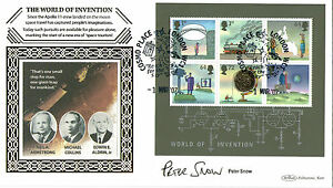 2007 WORLD OF INVENTION MS SIGNED PETER SNOW BENHAM FIRST DAY COVER SHS - Weston Super Mare, Somerset, United Kingdom - 2007 WORLD OF INVENTION MS SIGNED PETER SNOW BENHAM FIRST DAY COVER SHS - Weston Super Mare, Somerset, United Kingdom