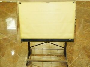 Refined mid century wood base drafting table mayline mobile 42 quot great