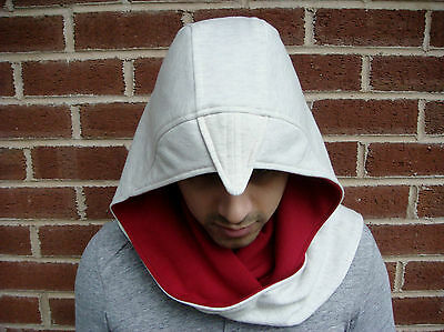 Assassins Creed 3 Hooded  Scarf Hood Game Costume Fancy Dress PS3 Xbox Arrow dvd