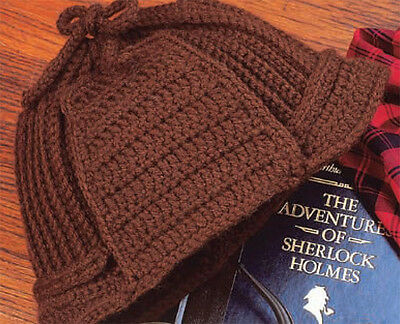 Gents - Lovely Deer stalker hat crochet pattern extract- lovely old pattern