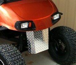 EZGO RXV Golf Cart Diamond Plate Front Guard Bumper