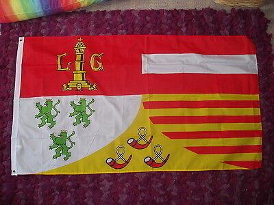 Walloonian Liege Flag Belgium Belgian Belgique City Medieval Heraldic 5x3 Banner