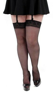 Pamela Mann Lace Top Stockings | Plus Size Stockings | Extra Large Stockings
