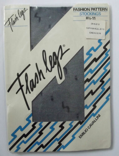 Vintage 1980s stockings Italian Flash Legs by Emilio Cavallini Spangles pattern