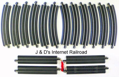 HO Scale Model Railroad Trains Layout 16 Piece Bachmann Steel EZ Track Oval