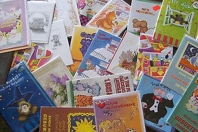 KöStlich 150 X Glückwunsch-/ Gruß-/ Geschenkkarten Restposten Kunden Zuerst