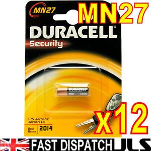 12-x-DURACELL-MN27-27A-A27-12v-Alkaline-Batteries-E27A-EL812-L828-G27A
