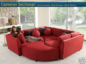 Four Piece Sectional Puzzle Sofa Two Color Choices