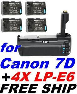 BG-E7-Battery-Grip-for-Canon-EOS-7D-SLR-Camera-4X-LP-E6