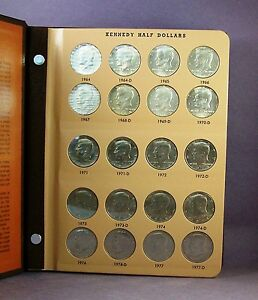1964-2012-Kennedy-Half-Dollar-Complete-w-Silver-90-Coin-Set-in-Dansco-Album