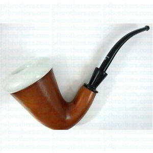 Rohan-Pipes-Sherlock-Holmes-Style-Briar-amp-Porcelain-Smoking-Pipe-L-NEW