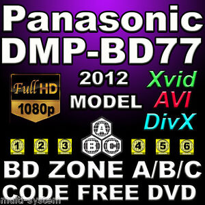 Panasonic-DMP-B77-Multi-Zone-All-Region-Code-Free-DVD-Blu-Ray-Player-100-240V
