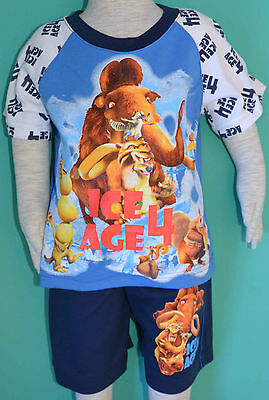 NEW Boy Ice Age Summer Pyjamas pjs Size 2,3,4,5,6,8