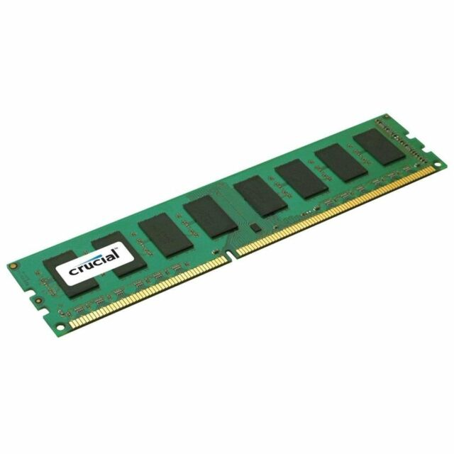 Crucial by Micron DDR3 4Gb 1600Mhz for Desktop PC 4g Memmory Module Lifetime NEW