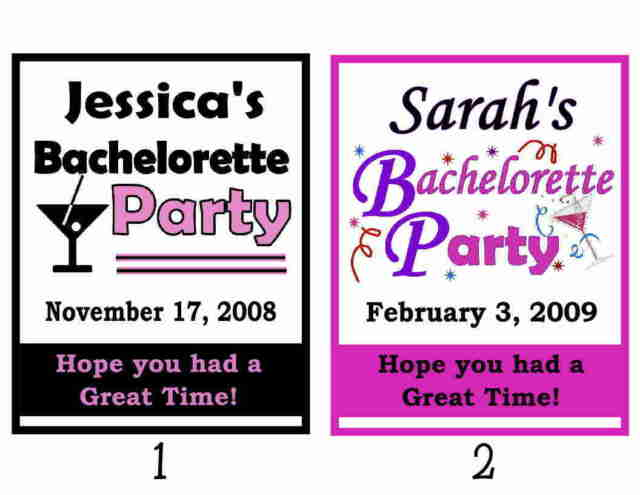 15 BACHELORETTE PARTY FAVORS MAGNETS - personalized