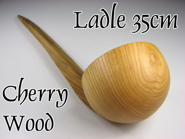 Unique and beautiful:  WOODEN LADLE, Wooden Serving Spoon, 35cm