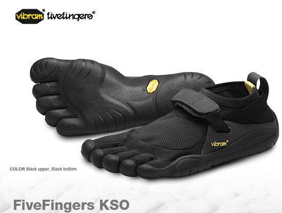 Vibram Fivefingers KSO Black/Black Mens sizes 40-47/7-14 NEW!!!