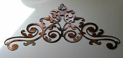 Ornamental Scroll Copper/Bronze Plated Metal Wall Decor