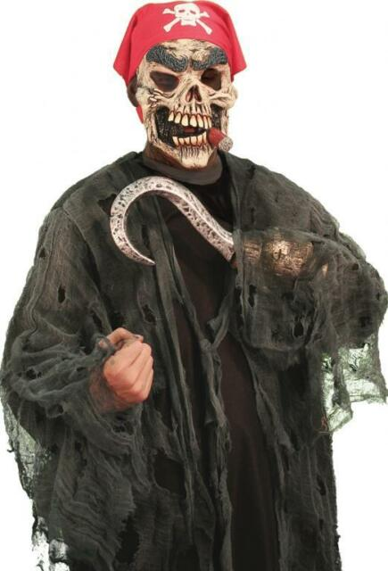 Pirate Ghoul Zombie Skull Scary Deluxe Dress Up Adult Halloween Costume w/Mask