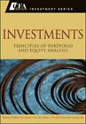 Investments: Principles of Portfolio and Equity Analysis by Wendy L. Pirie, Gerhard Van de Venter, Jerald E. Pinto, Michael G. McMillan (Hardback, 2011)