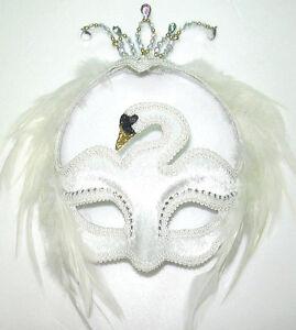 # Halbschuhe weiße Schwan Augen Maske Maskenball Oper Kostüm Outfit Zubehör