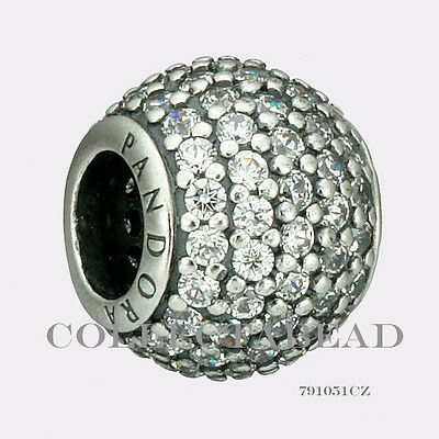 Authentic Pandora Sterling Silver Clear Pave CZ Bead 791051CZ
