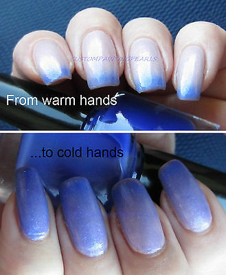 Duo Color Changing Finger Nail Polish Thermochromic Pigment Pearl at 30C-- 84F