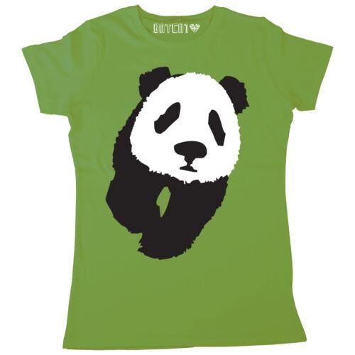 PANDA PRINT WOMENS LARGE ANIMAL FASHION PRINT T-SHIRT