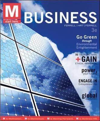 M: Business by Linda Ferrell, Geoffrey Hirt and O. C. Ferrell (2012, Paperback)