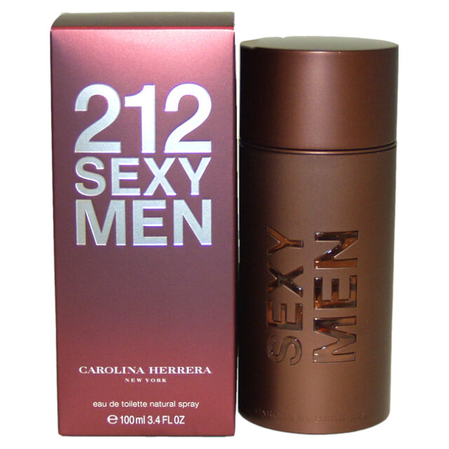 Carolina Herrera 212 Sexy 3.4oz 100ml Men Eau de Toilette Original & Sealed Box
