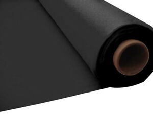 100ft-Wedding-Birthday-BLACK-Plastic-Banquet-Roll-Table-Cover-buffet-PS