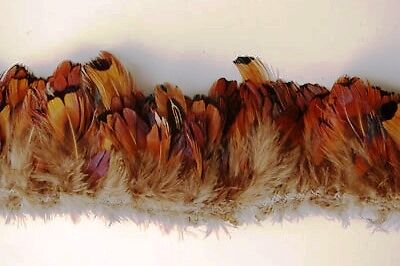 "30/"" PHEASANT FRINGE RED HEART Feathers 3-6/"" Craft//Pad"