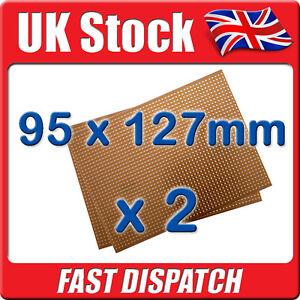 2-x-New-PCB-Stripboard-Vero-Style-Strip-Board-95-x127mm