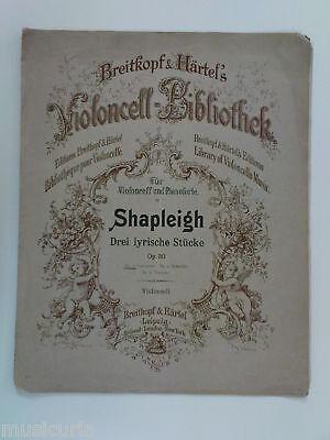 cello BERTRAM SHAPLEIGH canzonetta op.30 / 1