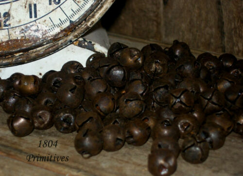 "500 Primitive Rusty Tin Jingle Bells 13mm ~ approx 1/2"" ~ Bulk Craft Supply"