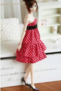 Red-Dottie-Dress-fits-momoko-Pullip-FR-barbie-Blythe