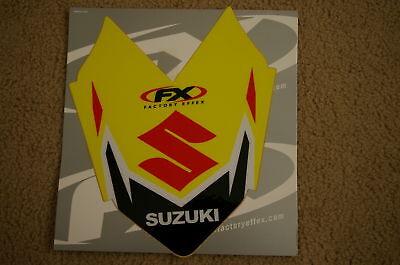 F X FRONT FENDER  GRAPHICS SUZUKI  RMZ450 RMZ250 RMX450