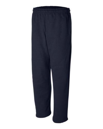 Gildan 50//50 Ultra Blend Open Bottom Sweatpants with Pockets 12300 S-2XL